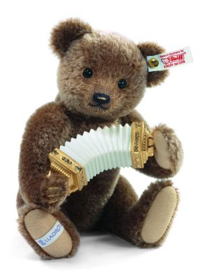 Steiff LLADRÓ Accordion player Teddy bear