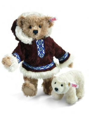 Steiff Matou Teddy Bear Eskimo with Polar Bear